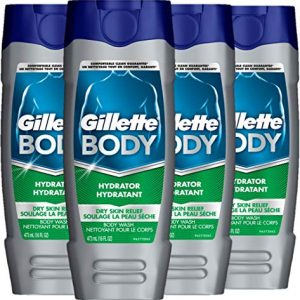 Gillette Body Hydrator Body Wash for Men, Dry Skin Relief, 16 Fluid Ounce