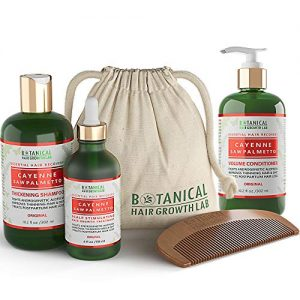 Botanical Hair Growth Lab 3 Pc Value Set Cayenne - Saw Palmetto For Hair