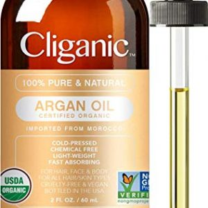 Cliganic USDA Organic Argan Oil, 100% Pure | Moroccan Argan Oil for Hair