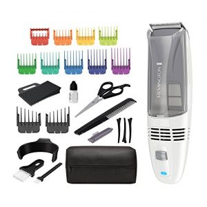 Remington Color Comb Vacuum Haircut Kit, Vacuum Trimmer, Hair Clippers