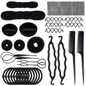 70 PACK Hair Styling Accessories Kit Set,Sonku Magic Bun Maker Hair Braid Tool