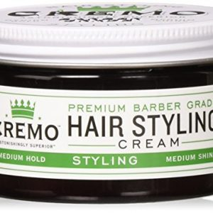 Cremo Premium Barber Grade Hair Styling Cream, Medium Hold, Medium Shine