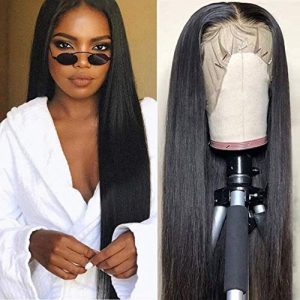 CHEETAHBEAUTY Brazilian Straight Lace Front Wigs Human Hair