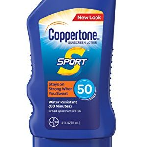 Coppertone SPORT Sunscreen Lotion Broad Spectrum SPF 50 (3 Fluid Ounce)