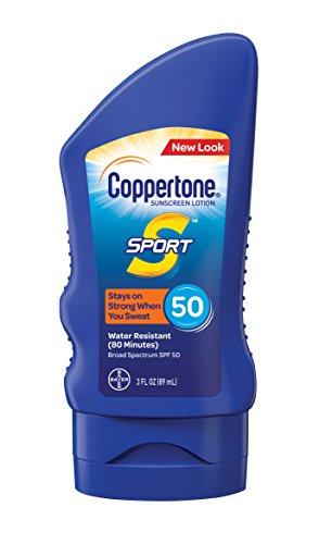 Coppertone SPORT Sunscreen Lotion Broad Spectrum SPF 50 (3 Fluid Ounce)
