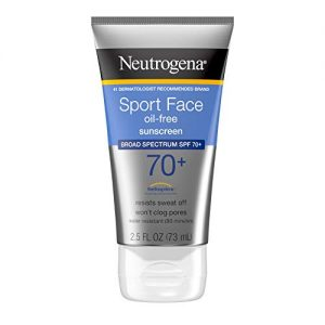 Neutrogena Sport Face Oil-Free Lotion Sunscreen with Broad Spectrum