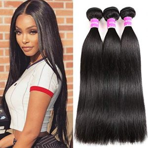 Encii Hair 10A Brazilian Straight Hair Human Hair 3 Bundles