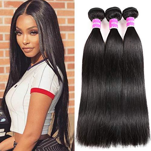 Encii Hair 10A Brazilian Straight Hair Human Hair 3 Bundles