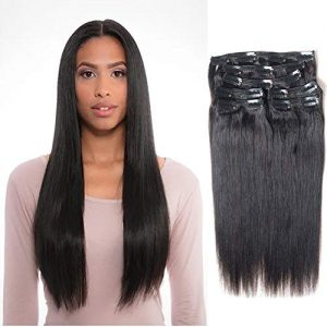 Vanalia 9A Perm Yaky hair extensions clip in human hair Double Wefted