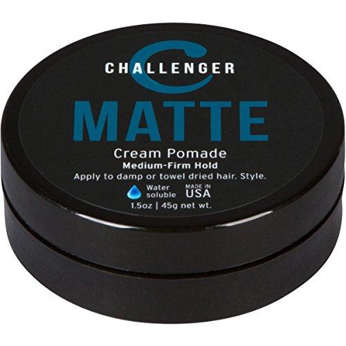Matte Cream Pomade - Challenger 1.5oz Medium Firm Hold - Water Based