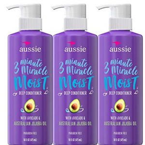 Aussie Deep Conditioner, with Avocado. Paraben Free, 3 Minute Miracle Moist
