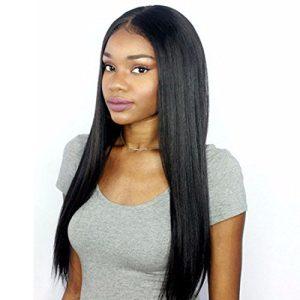 Premier 360 Lace Frontal Wig Light Yaki Straight Brazilian Remy Human Hair