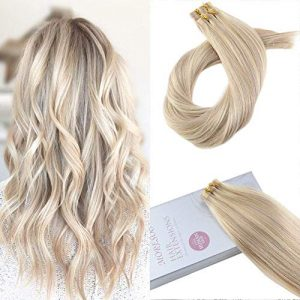 【Valentine's Day Off】Moresoo 20 Inch Tape on Human Hair Extensions Remy Hair