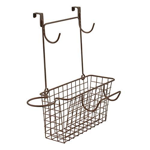 Spectrum Grid Wide Hair Station Basket Over the Cabinet Door Steel Wire Bathroom