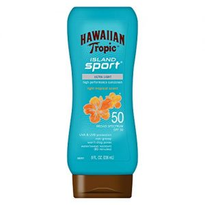 Hawaiian Tropic Island Sport Sunscreen Lotion, Ultra Light, High Performance Protection, SPF 50, 8 Ounces