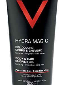 Vichy Homme Hydra Mag C Body Wash & Hair Shower Gel for Men