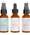 Natural Firm & Glow Skincare Set of 3 Serums - Skin Care Kit with 20% Vitamin C