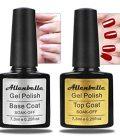 Allenbelle Base Top Coat Nail Polish Gift Set Base Top Coat Gel Uv Set