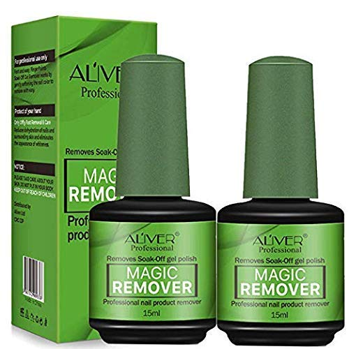 Magic Nail Polish Remover 2 Pack,Soak-Off Gel Nail Polish In 3-5 Minutes