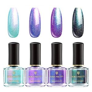 BORN PRETTY Pearl Nail Polish Set Polarized Glimmer Shell Glitter Nail Polish