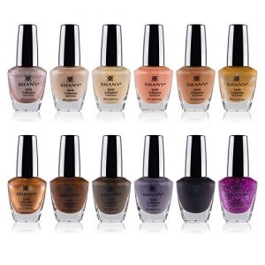 SHANY Nail Polish Set - 12 Nude and Natural Shades in Gorgeous Semi Glossy