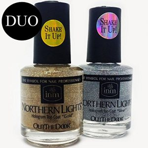 INM Northern Lights Hologram Top Coat DUO