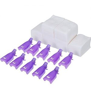 eBoot Nail Cap Clips UV Gel Polish Remover Wrap 10 Pack with 420 Pack Nail Wipe