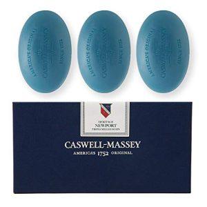 Caswell-Massey Triple Milled Luxury Bath Soap Newport Gift Set