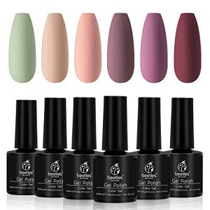 Beetles Pastel Gel Polish 6 Colors Kit, Nude Colors Collection
