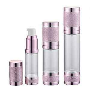 Tvoip 3Pcs/Lot 15ml 30ml 50ml Gold Pink Silver Glitter Diamond Airless Vacuum