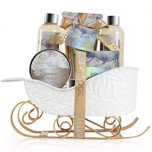 Bath and Body Set - Body & Earth Women Gifts Spa Set with Jasmine & Honey Scent