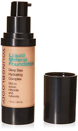 Youngblood Clean Luxury Cosmetics Liquid Mineral Foundation, Pebble