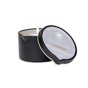 Fleur De Spa Massage Oil Candle Leather fragrance
