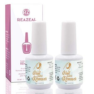 Reazeal 2pcs Magic Nail Polish Remover, Removes Soak-Off Gel Nail Polish