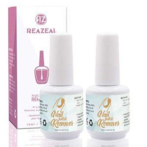 Reazeal 2pcs Magic Nail Polish Remover, Removes Soak-Off Gel Nail Polish