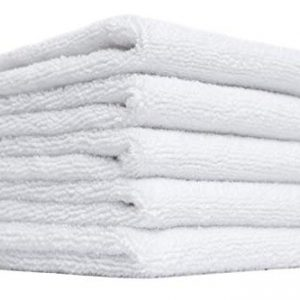 (5-Pack) Premium 12 in. x 12 in. Microfiber Facial Towels ~ Ultra Soft and Gentle Luxury Makeup Remover Wash Cloths with Silky Satin Border ~ TRC Skin Care