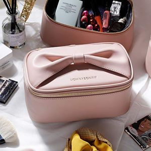 Rownyeon Makeup Bag for Women Girls Cute Portable Makeup Brushes Bag
