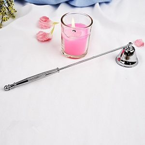 SODIAL Candle Wick Snuffer Stainless Steel Candle Flame Trimmer Bell Shaped Oil