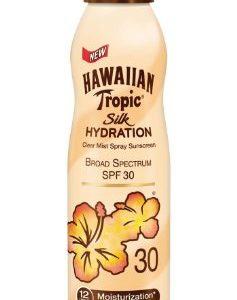 Hawaiian Tropic Silk Hydration Weightless Clear Spray Sunscreen, Broad-Spectrum Protection, SPF 30, 6 Ounces