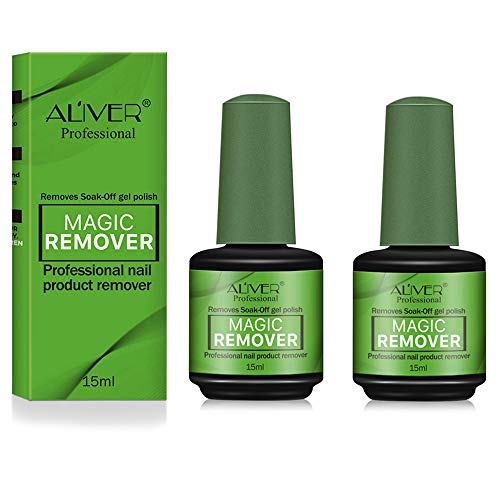 2Pack Magic Nail Polish Remover, Professional Easily & Quickly Removes