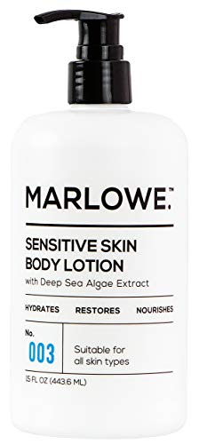 MARLOWE. No. 003 Sensitive Skin Body Lotion 15 oz | Moisturizing, Fragrance-Free