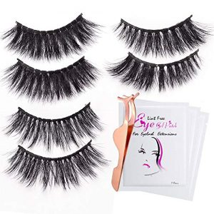 3D Fake Eyelashes-3 Styles False Eyelashes Reusable Naturally Handmade Soft