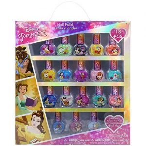 Townley Girl Disney Princess Belle Non-Toxic Peel-Off Nail Polish Set for Girls