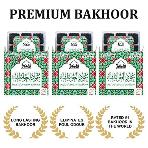 Oud Al Awatef Bakhoor - (3 Trays x 9 piece each)   For home use