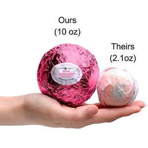 Bath Bomb with Size 6 Ring Inside - Pink Himalayan Sea Salt Extra Large