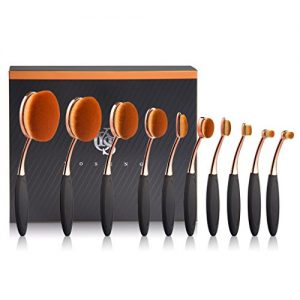 Yoseng Makeup Brushes Set 10Pcs Professional Oval Toothbrush Foundation