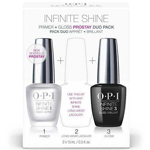 OPI Nail Polish Primer Base Coat & Gloss Top Coat, Infinite Shine Duo Set