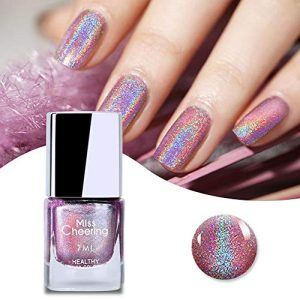 Ownest Holographic Nail Polish, Gorgeous Glossy Holographic Halo Glitter Polish