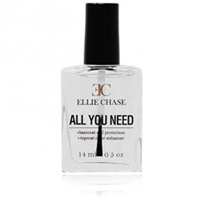 Ellie Chase 2 in 1 Top Coat & Base Coat 0.5 oz - Enhances Color, Shine Finish
