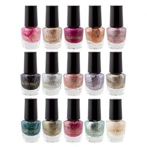Ellen Tracy Metallic and Shimmer Collection Mini Nail Polish Set of 15 Colors